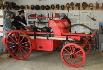 Neidenbacher Handdruckspritze im Museum in Prüm