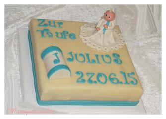 Torte zur Taufe, Tauftorte, Marzipantorte zur Taufe, Tauftorte Buch, Marzipan, Marzipanfigur,  Marzipanzauber, Lüneburg Winsen Hamburg
