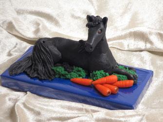 Marzipanfigur Pferd Friese, Marzipanpferd Marzipanzauber