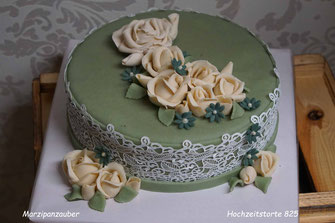 Hochzeitstorten, Wedding cake, kleine Hochzeit 10 Personen, Marzipan Brautpaar Marzipanzauber