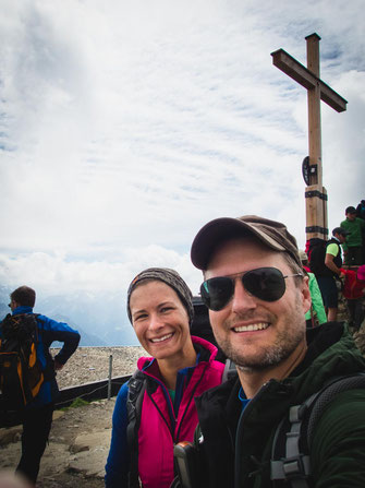 Auf dem Gipfel des Nebelhorns