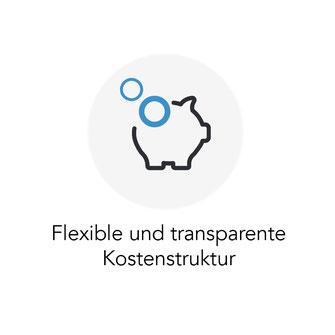 Flexible und transparente Kostenstruktur