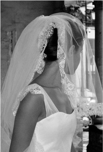 Robe mariée sur mesure Toulouse bretelles tulle