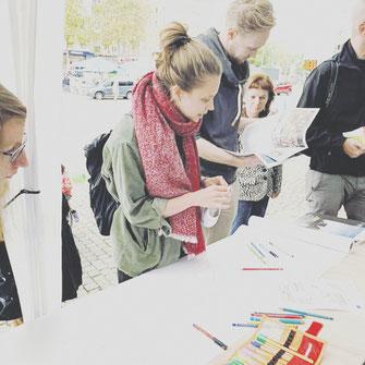 Großes Interesse an neuen kulturellen Nutzungen des Wiener Platzes wurden bei der Mitmachaktion der Mülheimia Quarterly am Mülheimer Tag 2019 formuliert.