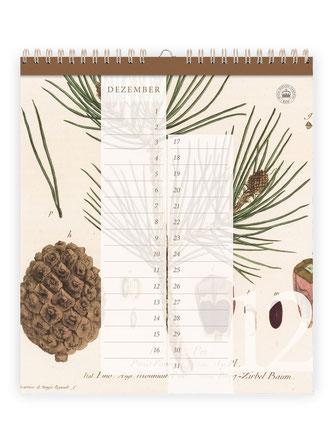 Geburtstagskalender ›Kew Gardens‹, Immerwärender Kalender bei Lazy Day Paper