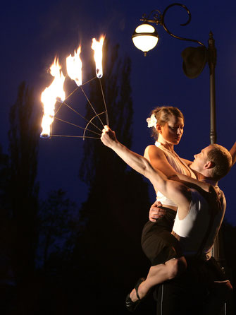 Die Feuershow  - ein eleganter Feuertanz für Hochzeit, Firmenevent, Gala und Stadtfest