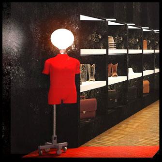 Интерьер магазина мужской одежды Lambert