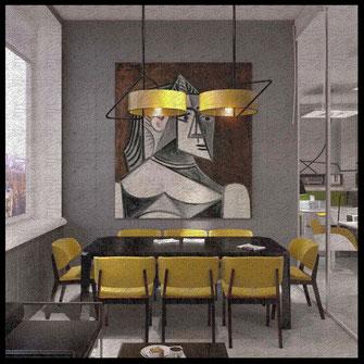 Интерьер офиса сети мебели для дома Red Apple