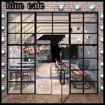 Интерьер кондитерской Blue cafe