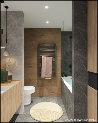 """дизайн ванной светлых тонах в ЖК """"Арт"""" Крост 89163172980 Дизайн интерьеров Москва"""