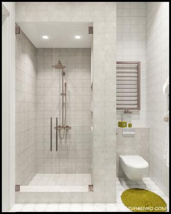 дизайн гостевой ванной комнаты в жилом доме в КП Чистые пруды 89163172980