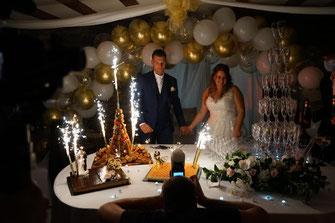 Buffet de dessert fontaine à champagne