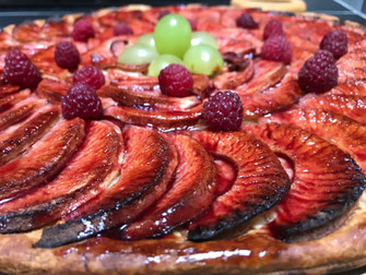 tarte vigneronne, dessert, hosted dinner, bed and breakfast, saumur, loire valley