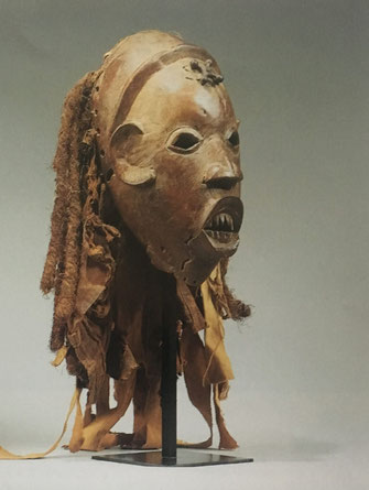 Bamileke Ku n'gan Mask with metal cross