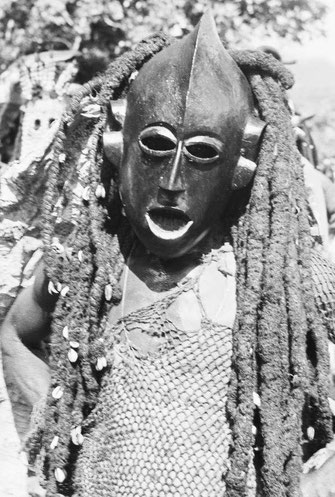 The Kungan-Triplets, Mask 1, Bamileke Kungan Mask, Field Photo, international Mission Archive.