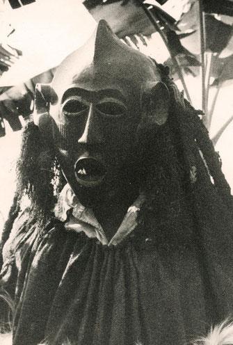 The Kungan-Triplets, Mask 3, Bamileke Mask, Kungan, Field Photo by Klaus Paysan