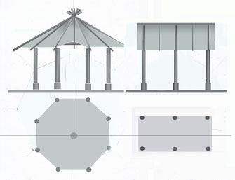 Aufriss - Grundriss (schematische Zeichnung)