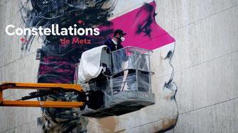 streetart facade mural art wall art urban art france constellations metz graffiti artiste graffmatt