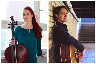 Duo Cello und Gitarre - Klassiker und Pop-Hits kunstvoll interpretiert. Geburtstagsständchen und Dinnermusik
