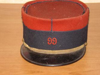Képi de soldat du 99e R.I. (Début 1ère Guerre Mondiale) - Fonds CHARMET