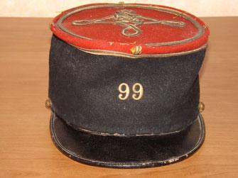 Képi de sous-lieutenant du 99e R.I. (Entre-deux -guerres) - Fonds CHARMET
