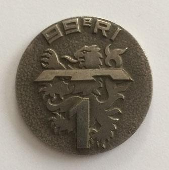 """Médaille """"de table""""  de la 1e Cie, circa 1970 (Coll. priv. 001)"""