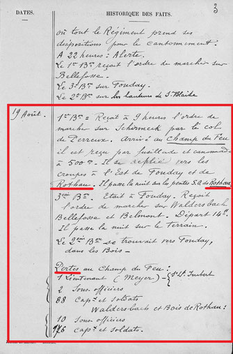 Extrait du J.M.O. du 99e R.I. (1914)/colonel Martinet