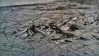Vue panoramique des monts de Flandre                - ''L'Illustration''- 4 mai 1918 -