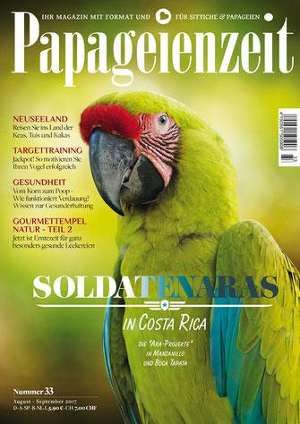 Papageienzeit 33 reist zu den Soldaten Aras nach Costa Rica, reist nach Neuseeland zu den Keas und erklärt die Verdauung unserer Vögel