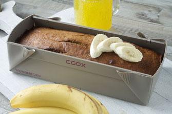 Rezept Bananenbrot, Banane, Brotrezepte, Brot, Rezeptideen, coox, Wunderform, backen