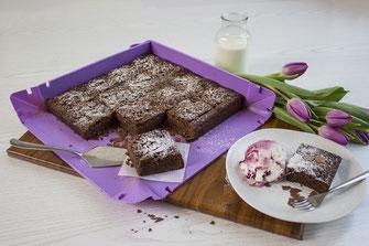 Rezept Saftige Brownies, Schokoholic, Schokolade, Kuchenrezepte, Rezeptideen, Brownies, saftig, coox, Wunderform, backen