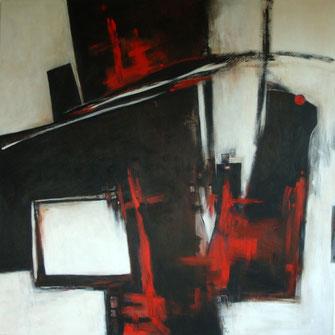 Rot trifft Schwarz | 2011 | 100 x 100