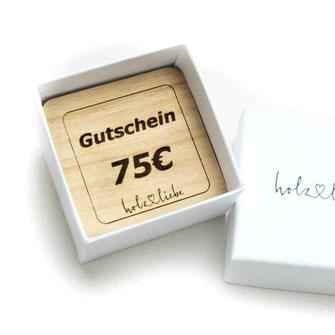 Geschenkgutschein aus Holz, Holzschmuck, Holzringe Verlobungsring, Hochzeitsring, Trauring, Partnerring Ringschachtel Ringbox aus Karton www.holz-liebe.at