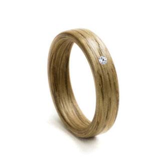 Holzring Eiche, Swarovski Kristall Hochzeitsringe, Eheringe, Verlobungsringe, Trauringe
