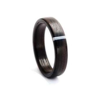 Verlobungsring, Partnerring, Holzring handgefertigt, Palisander mit Aluminium Inlay  www.holz-liebe.at/shop