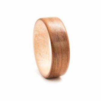 Holzring Kirschholz Ahornholz, Hochzeitsring Verlobungsring, Ehering