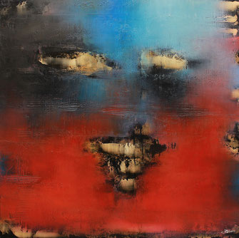 Carole Bécam - Artiste peintre - Série Energie - Le regard - 2020