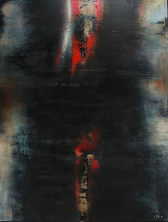 Carole Bécam - Artiste peintre - Série Energie - Huile sur toile 130 x 97