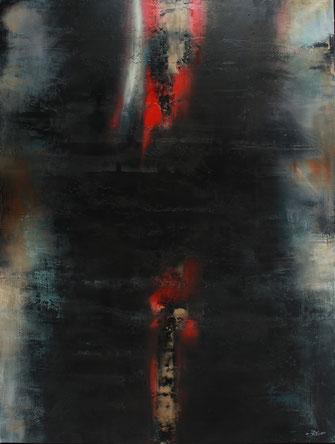 Carole Bécam - Artiste peintre - Série Energie - Sans titre Huile sur toile 130 x 97