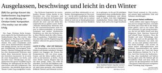 Neue Zuger Zeitung, 1.12.2014