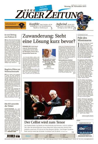 Neue Zuger Zeitung, 30.11.2015