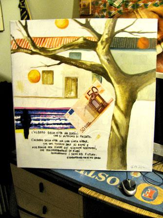 """""""L'albero della vita""""cm 60x60 su tela 2014 marzo"""