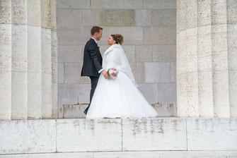 Hochzeitsfotografie Walhalla in Donaustauf, Hochzeitsfotos Walhalla Regensburg, Hochzeitsfotograf Walhalla Regensburg.
