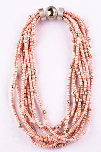 Halskette, Muschel  750/- Gelbgold, 925/- Silber, Urte Hauck, Schmuckdesignerin, Hannover