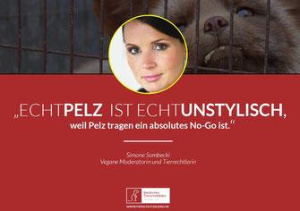 Anti-Pelz Kampagne Simone Sombecki