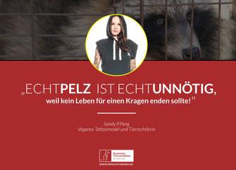 Anti-Pelz Kampagne Sandy P.Peng