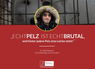 Anti-Pelz Kampagne Mark Benecke
