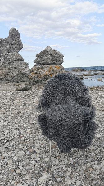 Gotländisches Lammfell mit Locken