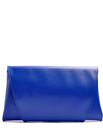 OSTWALD Bags . Finest Couture . Handcrafted Leatherbag . Envelope CLUTCH . Leatherbag in royal blue . Slow fashion