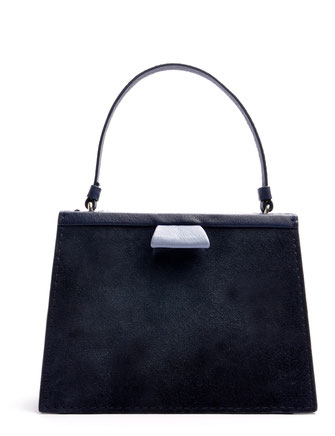 OSTWALD Bags . Finest Couture . Handcrafted Leatherbag .  Tote . Turtle Edge . blue . Light blue